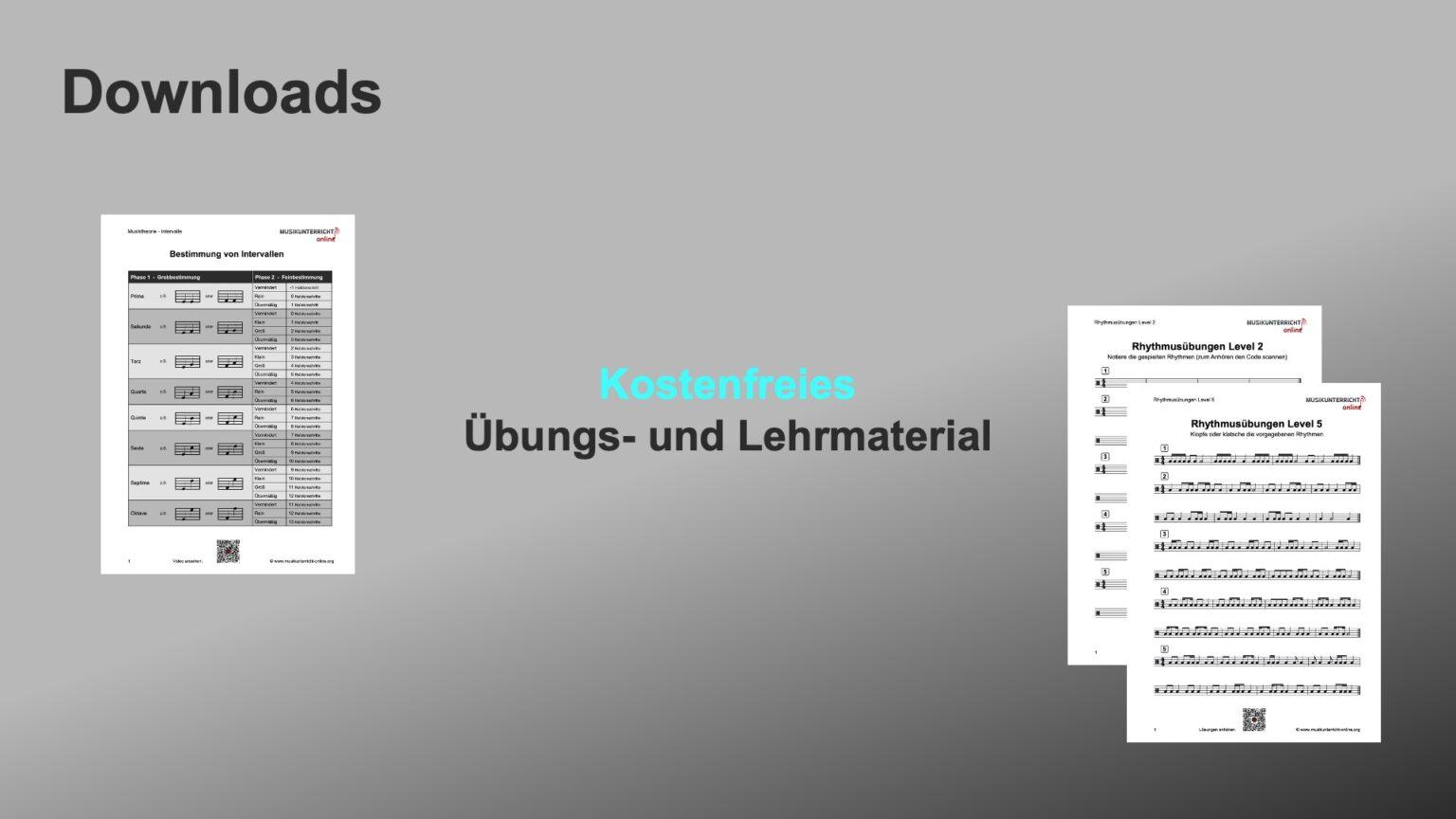 Im Downloadbereich gibt es viel kostenloses Übungsmaterial und Arbeitsblätter.