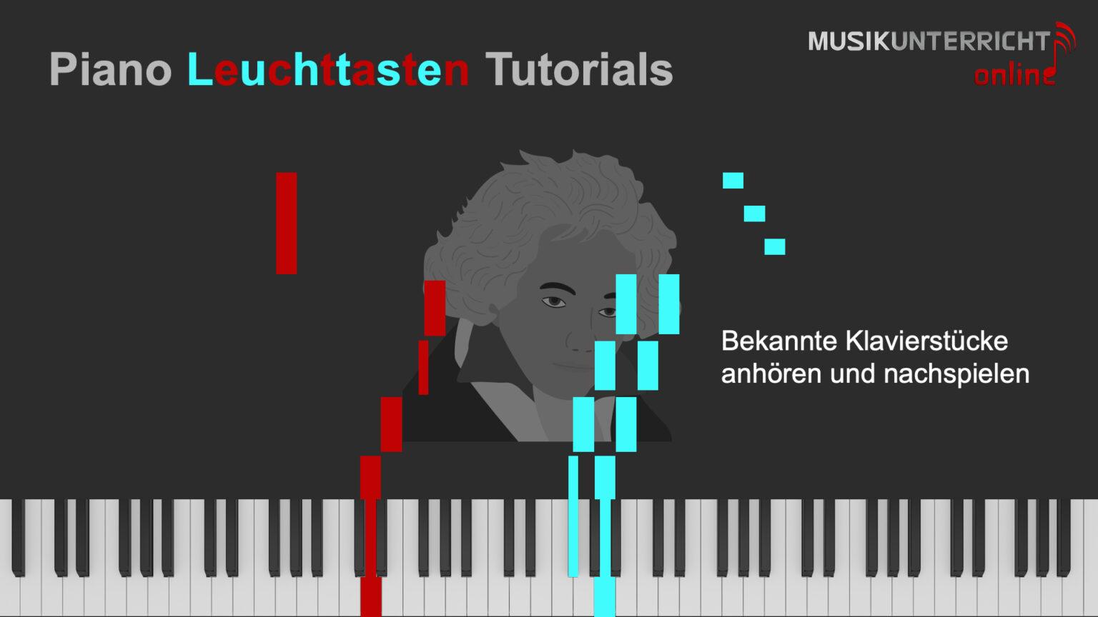 Leuchttastenvideos helfen Dir beim Einüben bekannter Klavierstücke