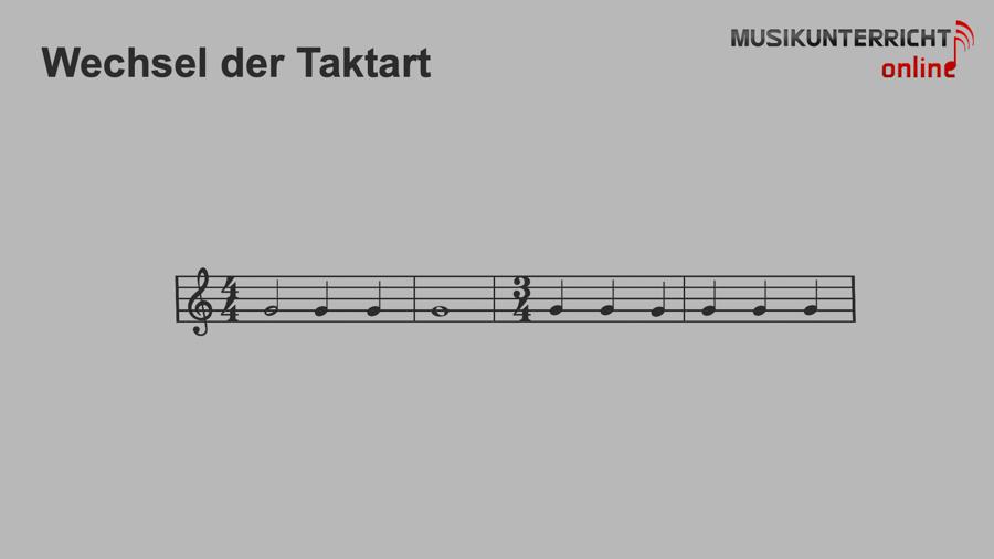 Einfach Notenlesen lernen: Der Rhythmus - Wechsel der Taktart