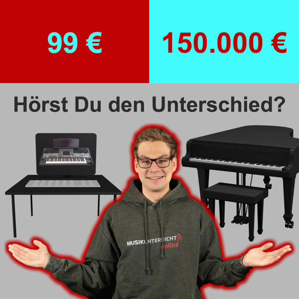 99 € vs 150.000 € - Hörst Du den Unterschied?