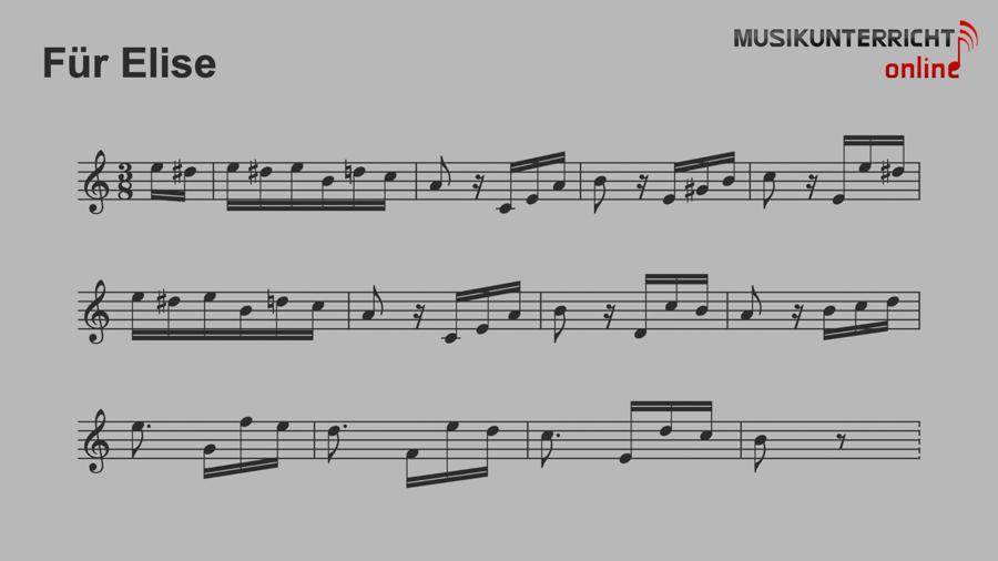 No more second chances - Leony - Notation Für Elise von Ludwig van Beethoven