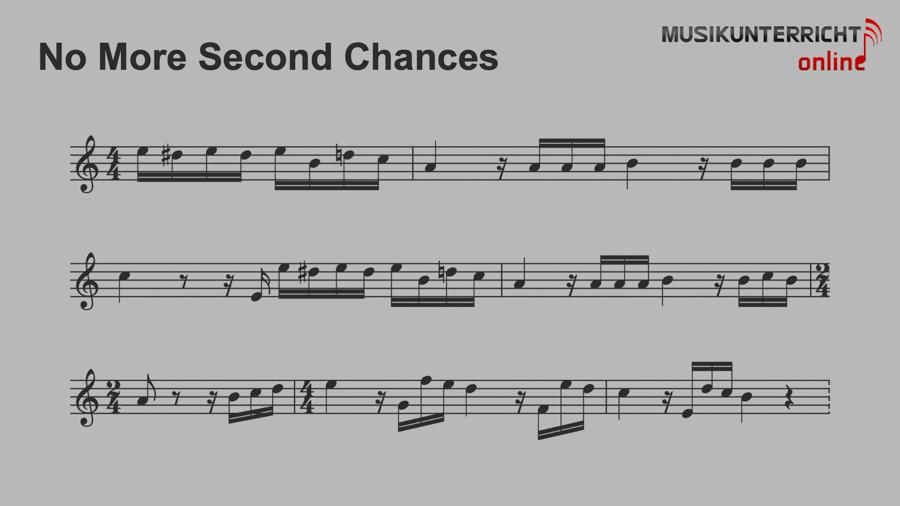 No more second chances - Leony - Notation Refrain No more second chances in der Tonart von Für Elise von Ludwig van Beethoven
