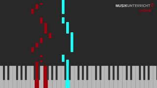 Piano Leuchttasten-Tutorial: Michael Praetorius - Alter duetscher Tanz - Variation