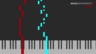 Piano Leuchttasten-Tutorial: Michael Praetorius - Alter duetscher Tanz - vereinfacht