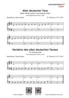 Download Vorschaubild: Noten zu Michael Praetorius - Alter deutscher Tanz - vereinfacht und Variation