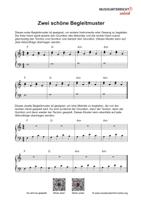 Download Vorschaubild: Noten zu zwei schönen Akkord-Begleitmustern für das Klavier