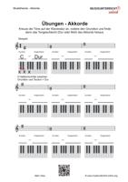 Vorschaubild Download: Übungsblatt zum Erlernen und Erkennen von Akkorden in Dur und Moll