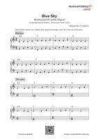 Vorschaubild Download - Noten für den Popsong Blue Sky von Alessandro di Lassone